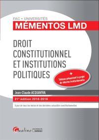 Droit constitutionnel et institutions politiques : 2018-2019