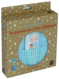 Bébé Balthazar, La journée de bébé Balthazar : livre-tissu Montessori