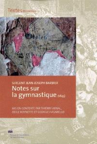 Notes sur la gymnastique (1843)