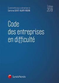 Code des entreprises en difficulté : 2019