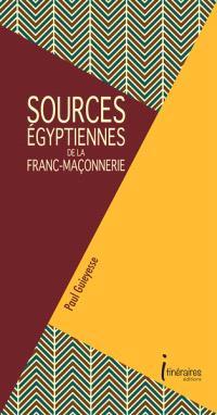 Sources égyptiennes de la franc-maçonnerie