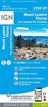 2739OT MONT LOZERE, FLORAC, PN DES CEVENNES / RECTO