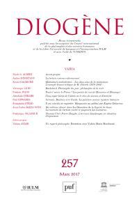 Diogène. n° 257
