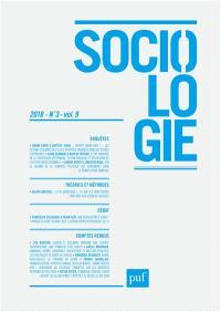 Sociologie. n° 3 (2018)