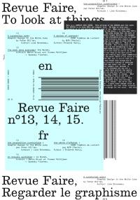 Revue Faire : regarder le graphisme. n° 13-14-15