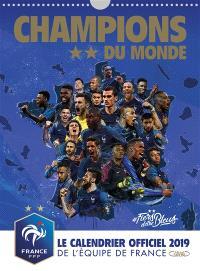 Champions du monde : le calendrier officiel 2019 de l'équipe de France