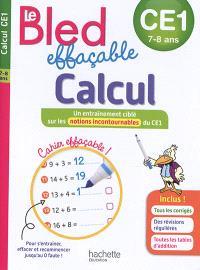 Le Bled effaçable, calcul, CE1, 7-8 ans