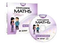 Compagnon maths CM2 : CD-ressources : nombres et calculs, grandeurs et mesures, espace et géométrie, plus de 400 exercices