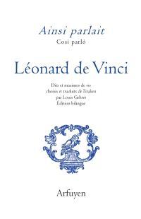 Ainsi parlait Léonard de Vinci = Cosi parlo Léonard de Vinci