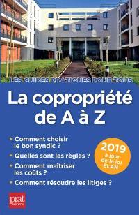 La copropriété de A à Z 2019 : comment choisir le bon syndic, quelles sont les règles, comment maîtriser les coûts, comment résoudre les litiges