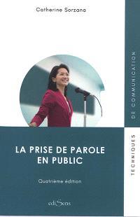 La prise de parole en public