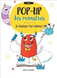 Les monstres : pop-up à réaliser toi-même et à colorier !
