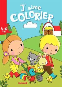 J'aime colorier, 4-6 ans : ferme