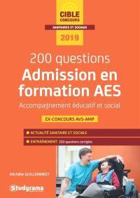 200 questions admission en formation AES accompagnant éducatif et social : 2019