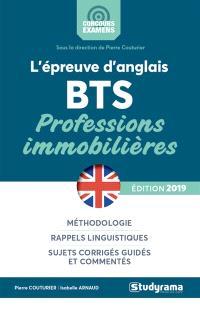 L'épreuve d'anglais : BTS professions immobilières