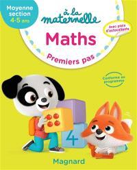A la maternelle, maths, moyenne section, 4-5 ans : premiers pas