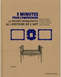 3 minutes pour comprendre 50 oeuvres marquantes de l'histoire de l'art : La dame à l'hermine, la Piétà, Les Ménines, La laitière, Le penseur, Le baiser, Brillo box