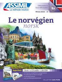 Le norvégien, débutants & faux-débutants, niveau atteint B2 : super pack USB : 1 livre + 4 CD audio + 1 clé USB