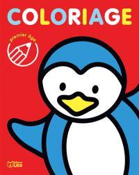 Coloriage premier âge : pingouin