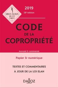 Code de la copropriété 2019 : annoté & commenté
