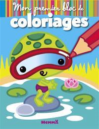 Animaux rigolos : mon premier bloc de coloriages