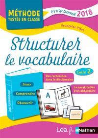 Structurer le vocabulaire : cycle 2 : programme 2018