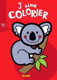 J'aime colorier, 2-4 ans : koala
