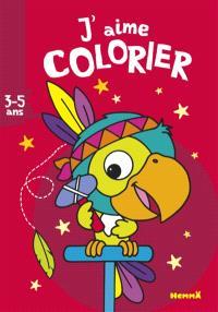 J'aime colorier, 3-5 ans : perroquet indien