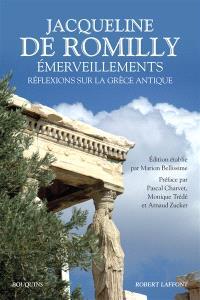 Emerveillements : réflexions sur la Grèce antique