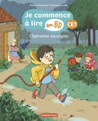 Je commence à lire en BD, Opération escargots : CE1