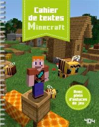 Minecraft : cahier de textes