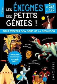 Les énigmes des petits génies ! : du CE1 au CE2, 7-8 ans