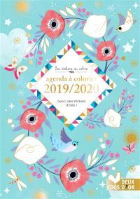 Agenda à colorier : 2019-2020 : avec des stickers dorés !