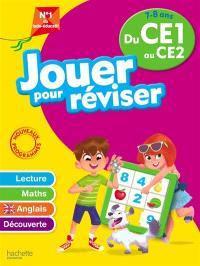 Jouer pour réviser du CE1 au CE2, 7-8 ans : lecture, maths, anglais, découverte