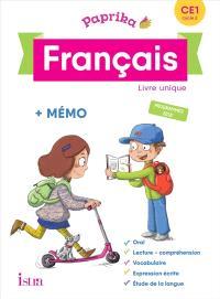 Paprika, français CE1, cycle 2 : livre unique + mémo : programmes 2018