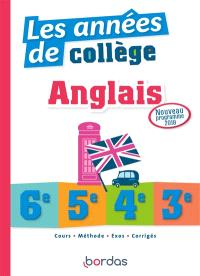 Anglais, les années de collège, 6e, 5e, 4e, 3e : nouveau programme 2018