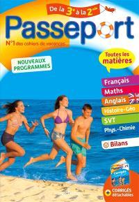 Passeport de la 3e à la 2de : toutes les matières : nouveaux programmes