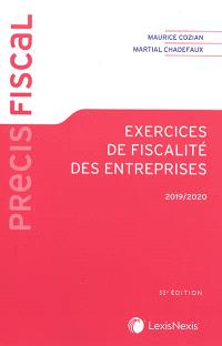 Exercices de fiscalité des entreprises : 2019-2020
