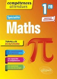 Spécialité maths 1re : nouveaux programmes !