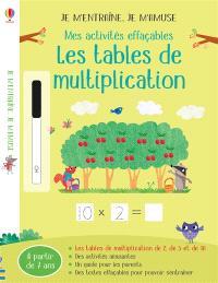 Les tables de mutliplication : mes activités effaçables