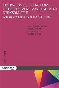 Motivation du licenciement et licenciement manifestement déraisonnable : applications pratiques de la CCT n°109