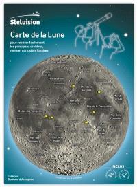 Carte de la Lune : pour repérer facilement les principaux cratères, mers et curiosités lunaires