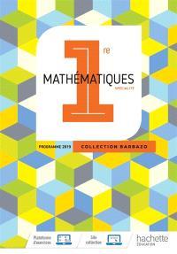 Mathématiques, 1re spécialité : programme 2019
