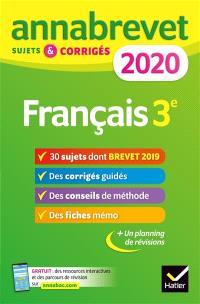 Français 3e : 2020