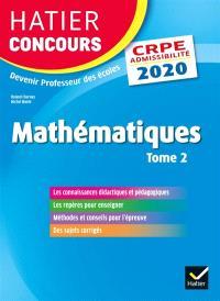 Mathématiques : CRPE admissibilité : 2020. Volume 2