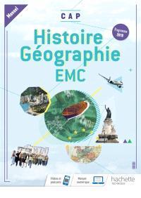 Histoire géographie, EMC, CAP : manuel : programme 2019