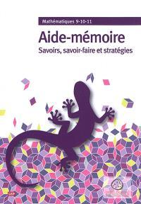 Aide-mémoire : savoirs, savoir-faire et stratégies