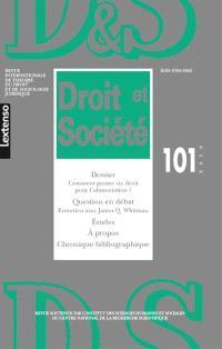 Droit et société. n° 101, Comment penser un droit pour l'alimentation ?