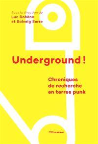 Underground ! : chroniques de recherche en terres punk