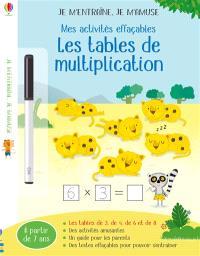 Les tables de multiplication : mes activités effaçables